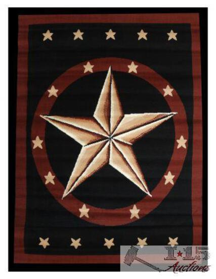 Brand New Large western star area rug.
