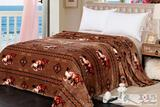Brand New Queen Size Silk Touch blanket with running horse design.