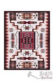 Large Southwest area rug. This rug features a southwestern motif stretching from corner to corner.