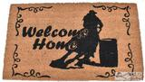 Barrel Racer Welcome Home...Design...Outdoor Door Mat....
