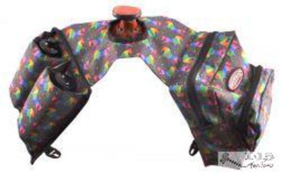 NEW Unicorn Print Cordura Nylon Insulated Horn Bag