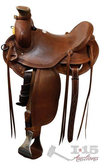 """NEW 17"""" Seat Ranch/Rope Saddle .."""