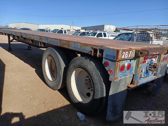 1973 40 foot flat bed semi trailer Utility