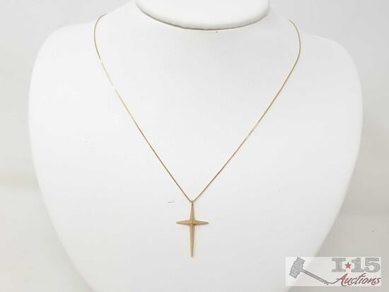 14k Gold Chain And Pendant, 2.5g