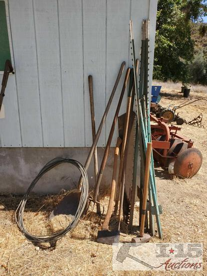 Cable, Garden Tools, And T Posts
