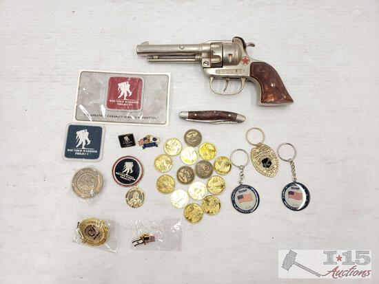 Handgun Replica, Wounded Warrior Patches, Veteran Keychains, And More!