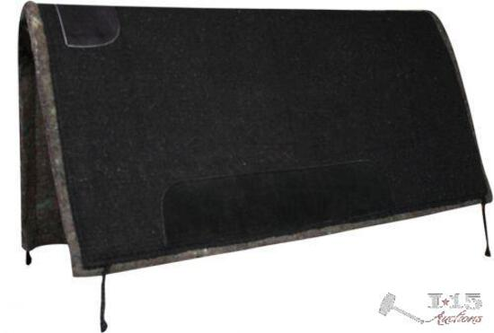 """Showman? 32"""" x 32"""" solid colored pad with felt bottom and suede wear leathers."""