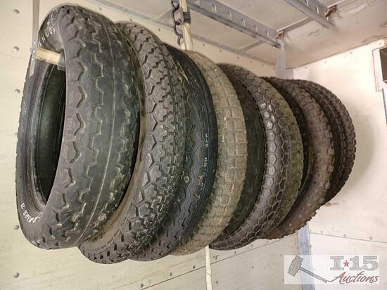 Approximately Twelve Motorcycle Tires