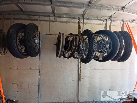 Approximately Four Bespoke Wheels And Six Bespoke Wheels With Tires