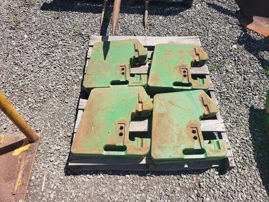 (8) John Deere Suitcase Weights