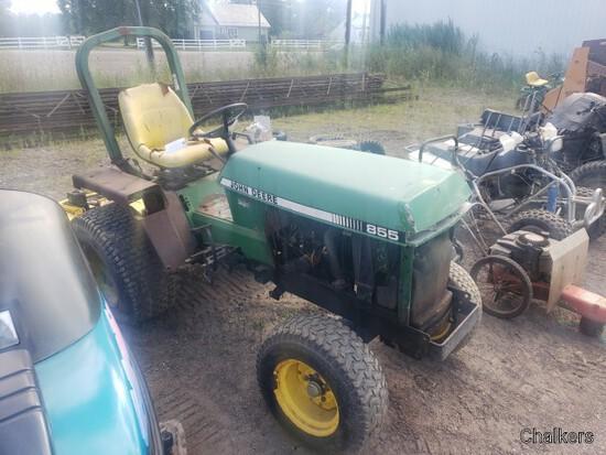 John Deere 855 2wd Tractor w/Belly Mower