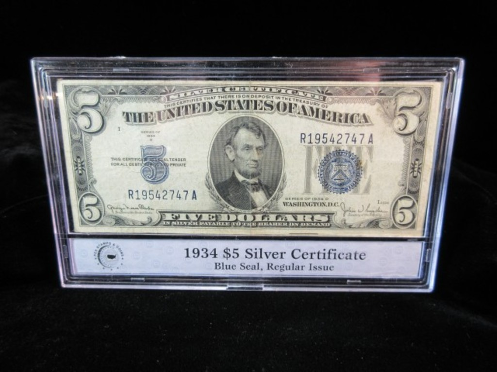93 1934 Silver Certificates Small Sizesilver Certificates Low