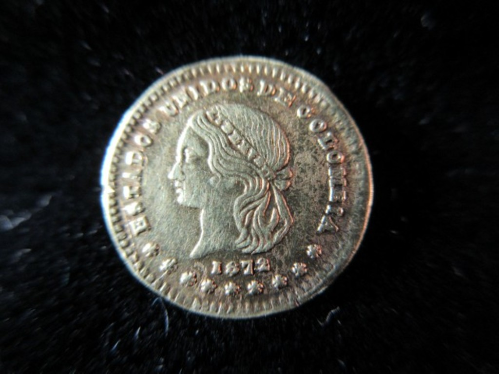 1872 Small Gold Columbia Coin