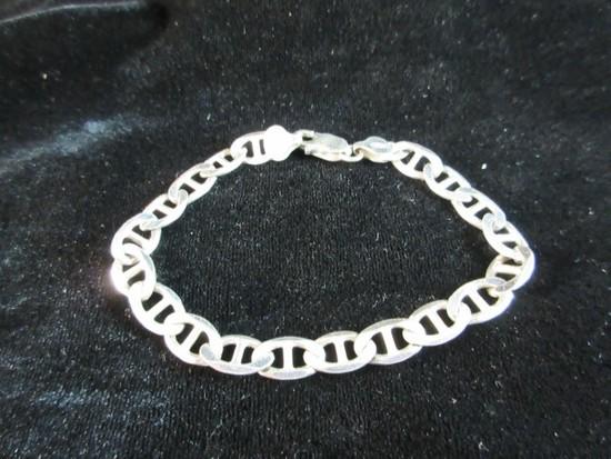 8.5 inch Sterling Silver Link Style Bracelet