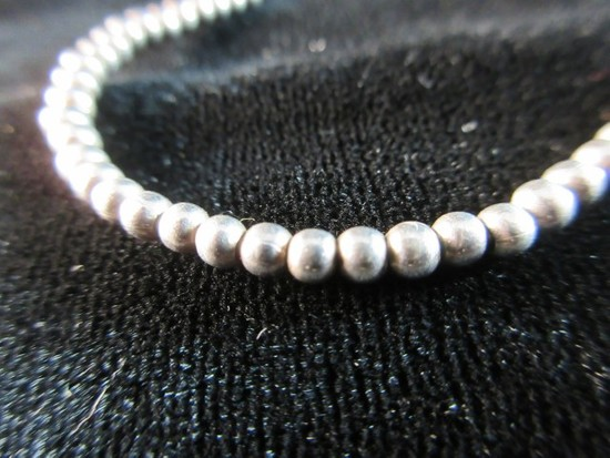 """Bead Style Sterling Silver 16"""" Necklace"""