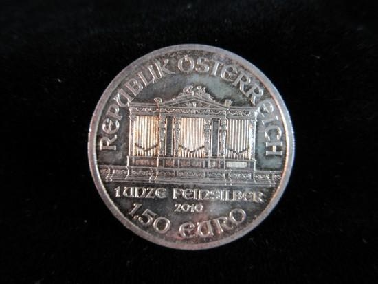 .999 Fine One OZ coin