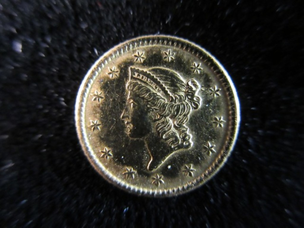 1853 1.00 Dollar Gold Coin