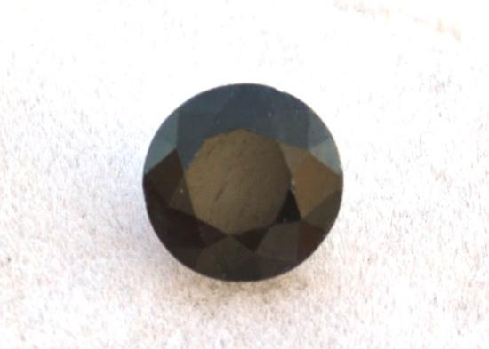 2.11 Carat Fantastic Round Cut Midnight Blue Sapphire