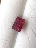 Ruby Emerald Cut .82 ct