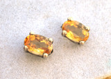 2.48 Carat Matched Pair of Citrines in 10k Gold