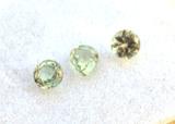 1.07 Carat Trio of Fine Green Sapphire