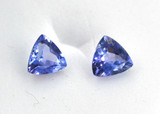 1.06 Carat Top Quality Matched Pair of Tanzanites with Paperwork