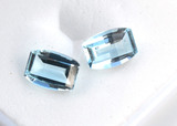 2.01 Carat Matched Pair of Fine Sky Blue Topaz