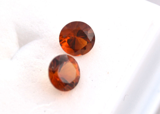 1.00 Carat Matched Pair of Top Color Citrines
