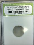 Natural Diamond Crystal Cube .10 cts