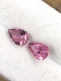 Pink Tourmaline Teardrop Matched Pair 0.7 ct