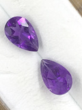 Amethyst Teardrop Matched Pair 1.44 ct
