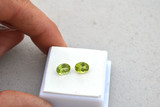 2.90 Carat Matched Pair of Oval Cut Peridots