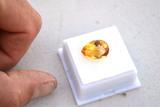 7.44 Carat Very Fine Pear Cut Citrine