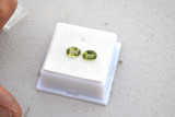 2.21 Carat Matched Pair of Oval Cut Peridots
