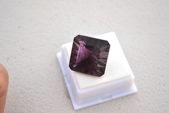 44.10 Carat Fantastic Fancy Cut Purple Flourite