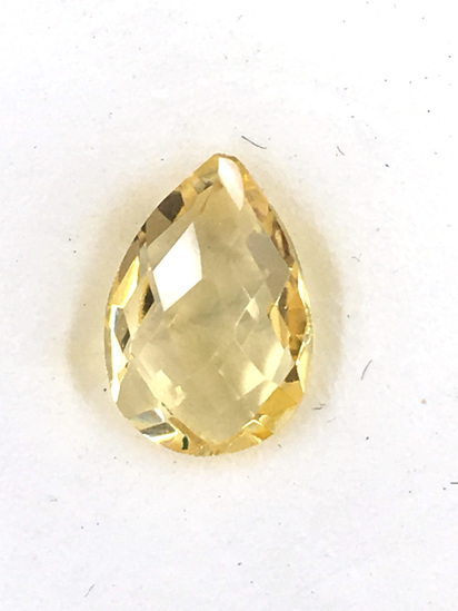 Citrine Teardrop Checkerboard Cut 1.74 ct