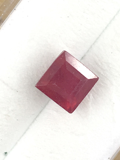 Ruby Princess Cut 1.98 ct
