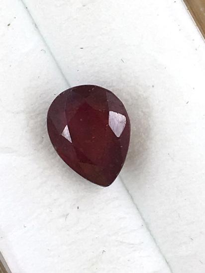 Ruby Teardrop 2.44 ct