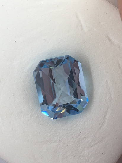 Cushion Checker Natural Blue Topaz 3.74 ct