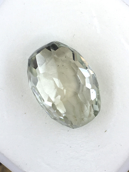 Green Amethyst Barrel Shaped 9.22 ct