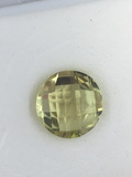 Lemon Citrine Round Checker Cut 3.25 ct