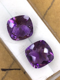 Amethyst Cushion Cut Matched Set 3.84 ct