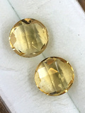 Round Citrine Matched Pair 2.03 ct