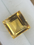 Square Cut Brazilian Citrine 3.36 ct