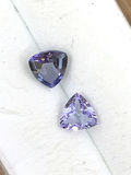 Tanzanite Trillion Cut Matched Pair .58 ct