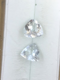 Aquamarine Trillion Cut Matched Set 1.95 ct