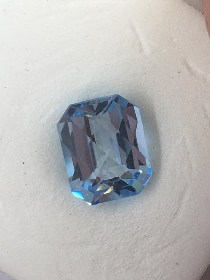 Cushion Checker Natural Blue Topaz 3.74 ct