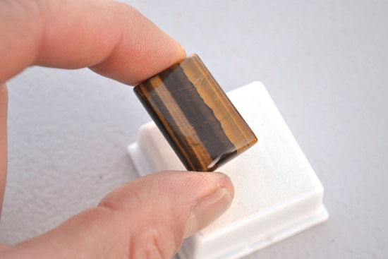 27.95 Carat Tiger Eye Cabochon