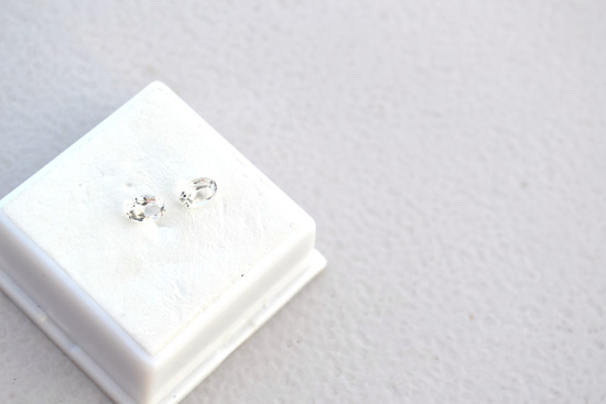 1.15 Carat Matched Pair of White Topaz