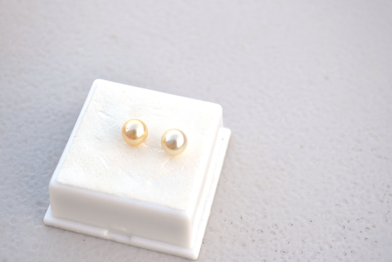 Matched Pair of 6.75MM Cream Colored Pearls.  Original Sale Price of $41.50 Each.